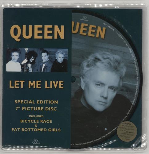 "Queen Let Me Live - Stickered 7"" vinyl picture disc 7 inch picture disc single UK QUE7PLE750067"
