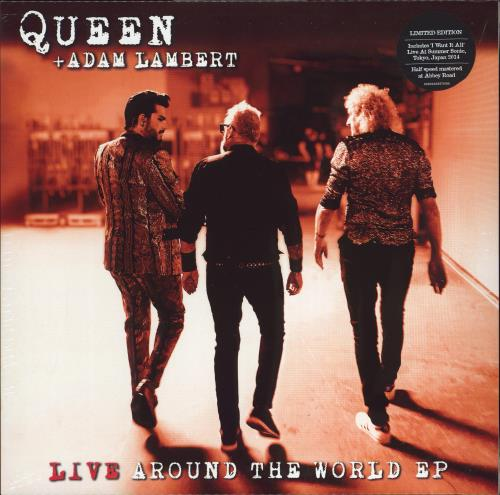 "Queen Live Around The World EP - RSD 2021 - Sealed 12"" vinyl single (12 inch record / Maxi-single) UK QUE12LI771904"