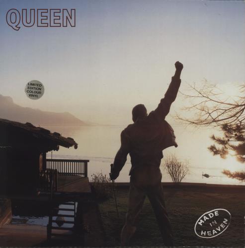 Queen Made In Heaven - Cream - Stickered - EX vinyl LP album (LP record) UK QUELPMA529477
