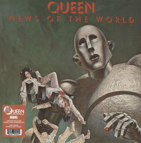 Queen News Of The World - Comic Con Edition + Marvel Print vinyl LP album (LP record) UK QUELPNE691967