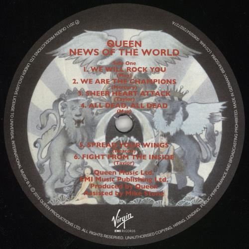 Queen News Of The World - Comic Con Edition + Marvel Print vinyl LP album (LP record) UK QUELPNE691967