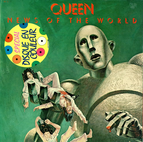 Queen News Of The World Green Vinyl French Vinyl Lp