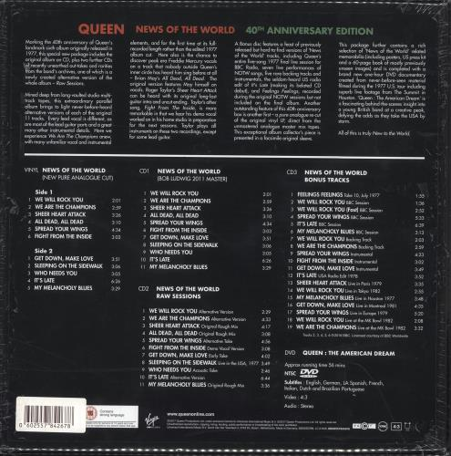 Queen News Of The World: 40th Anniversary Edition box set UK QUEBXNE734011