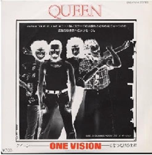 "Queen One Vision 7"" vinyl single (7 inch record) Japanese QUE07ON191163"