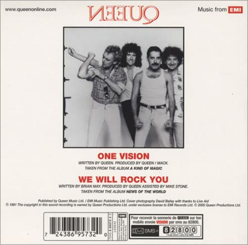 """Queen One Vision CD single (CD5 / 5"""") French QUEC5ON405615"""