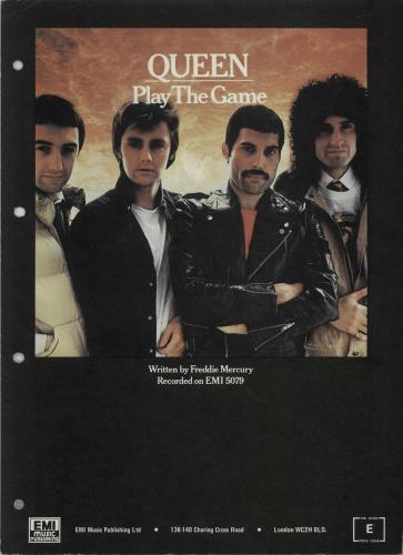 Queen Play The Game sheet music UK QUESMPL577735