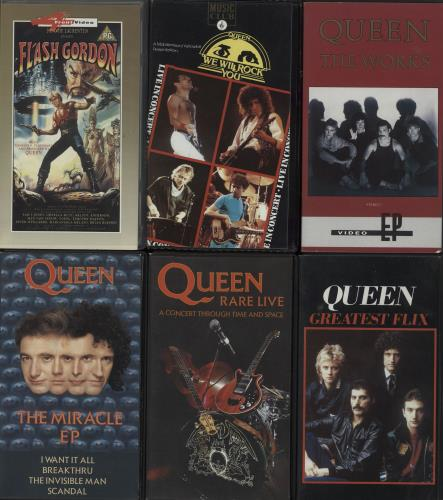 Queen Quantity Of Six Videos video (VHS or PAL or NTSC) UK QUEVIQU660768