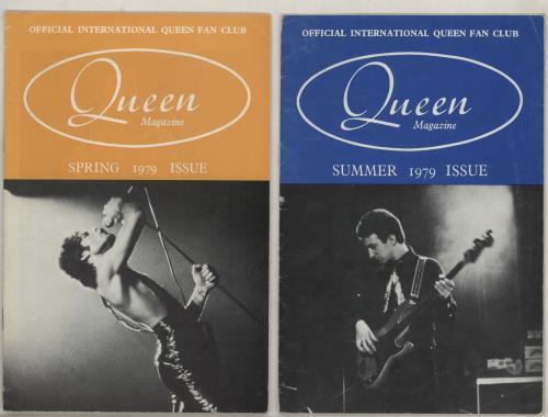 Queen Queen Fan Club 1979 magazine UK QUEMAQU757928