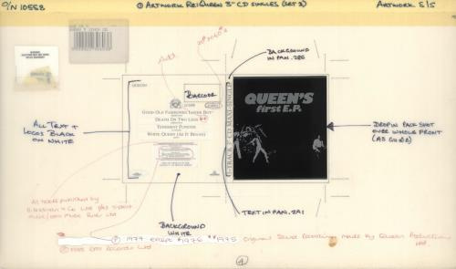 Queen Queen's First EP artwork UK QUEARQU719173