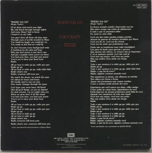 """Queen Radio Ga Ga 7"""" vinyl single (7 inch record) Brazilian QUE07RA703606"""