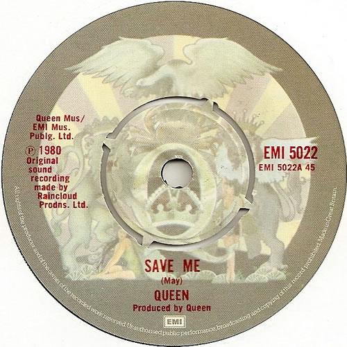 """Queen Save Me 7"""" vinyl single (7 inch record) UK QUE07SA562973"""