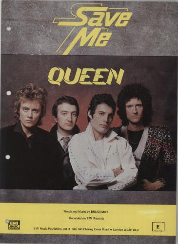 Queen Save Me sheet music UK QUESMSA673405