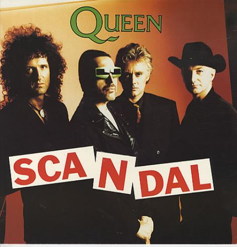 "Queen Scandal 12"" vinyl single (12 inch record / Maxi-single) UK QUE12SC22043"