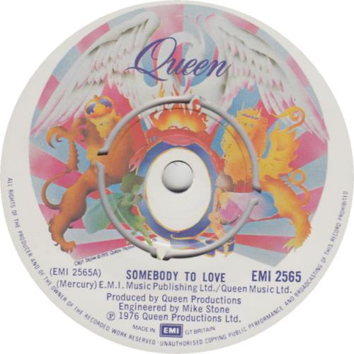 "Queen Somebody To Love 7"" vinyl single (7 inch record) UK QUE07SO559292"