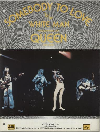 Queen Somebody To Love UK sheet music (577736) SHEET MUSIC