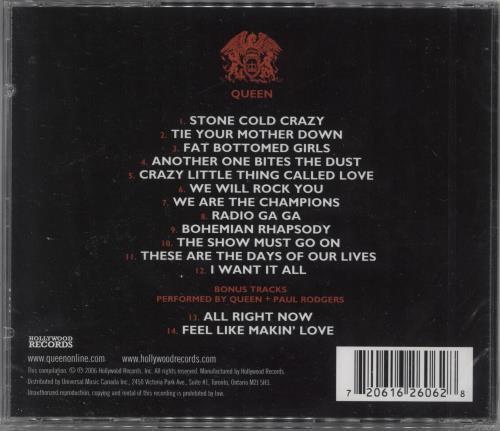 Queen Stone Cold Classics CD album (CDLP) Canadian QUECDST360825
