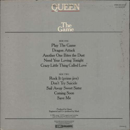 Queen The Game vinyl LP album (LP record) South African QUELPTH720794