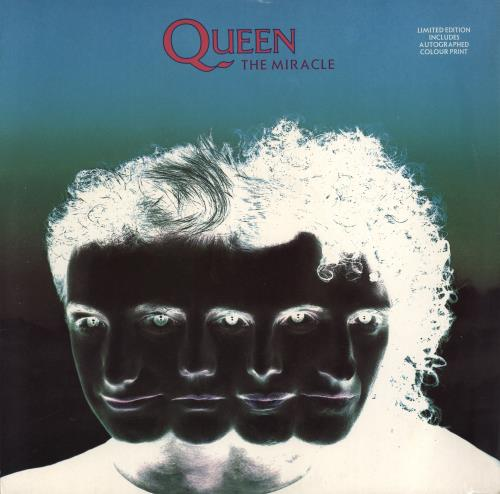 """Queen The Miracle + Print - EX 12"""" vinyl single (12 inch record / Maxi-single) UK QUE12TH767427"""