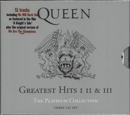 Queen The Platinum Collection - Hype-Stickered 3-CD album set (Triple CD) UK QUE3CTH747639