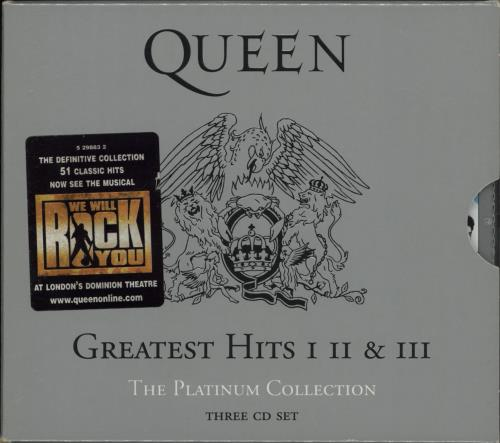 Queen The Platinum Collection - stickered case 3-CD album set (Triple CD) UK QUE3CTH751092