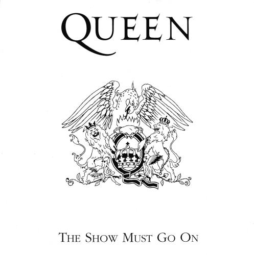 """Queen The Show Must Go On - Red Vinyl 7"""" vinyl single (7 inch record) Italian QUE07TH39675"""