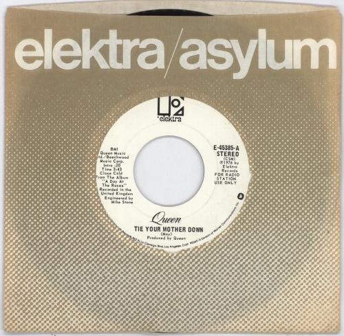 "Queen Tie Your Mother Down - CSM 7"" vinyl single (7 inch record) US QUE07TI703211"