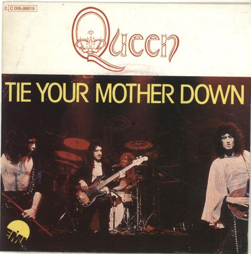 """Queen Tie Your Mother Down 7"""" vinyl single (7 inch record) French QUE07TI84817"""