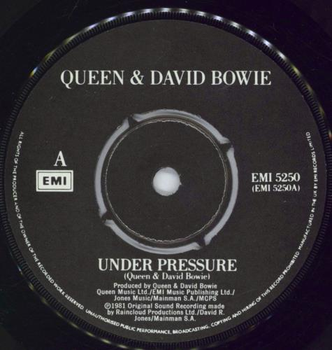 "Queen Under Pressure - 4pr 7"" vinyl single (7 inch record) UK QUE07UN567445"