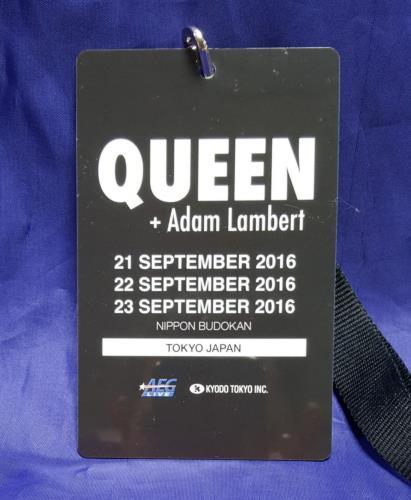 Queen VIP Tokyo 2016 tour pass Japanese QUETPVI692376