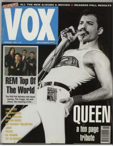 Queen Vox - February 1992 magazine UK QUEMAVO280786