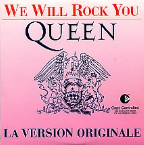 """Queen We Will Rock You - Pink P/S CD single (CD5 / 5"""") French QUEC5WE258018"""