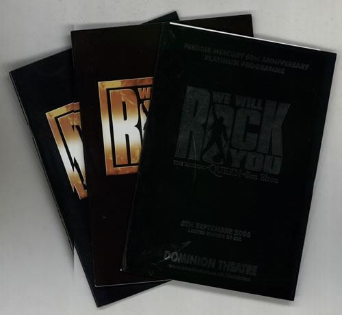 Queen We Will Rock You - Set of Three Programmes tour programme UK QUETRWE577786