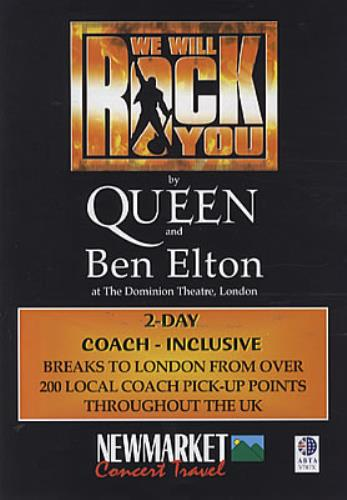 Queen We Will Rock You UK Promo handbill