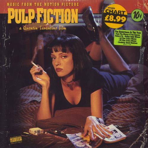 Quentin Tarantino Pulp Fiction OST vinyl LP album (LP record) US QUNLPPU495479