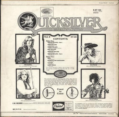 Quicksilver Messenger Service Happy Trails - Stereo - 2nd - Green Label - VG vinyl LP album (LP record) UK QMSLPHA704135