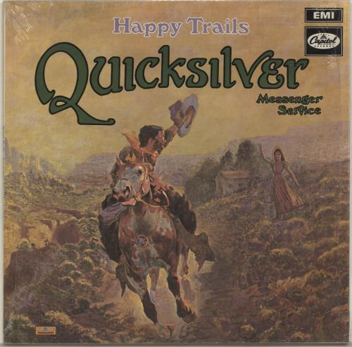 Quicksilver Messenger Service Happy Trails - Stereo - Green Label vinyl LP album (LP record) French QMSLPHA696600