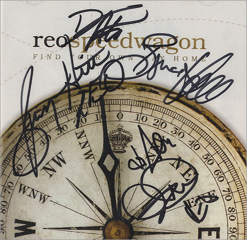 R.E.O. Speedwagon Find Your Own Way Home - Autographed CD album (CDLP) US REOCDFI436754