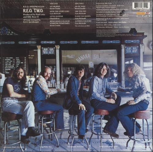R.E.O. Speedwagon R.E.O./T.W.O. - Blue Vinyl - Sealed vinyl LP album (LP record) German REOLPRE736405