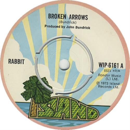 "Rabbit Broken Arrows 7"" vinyl single (7 inch record) UK 7RB07BR450697"