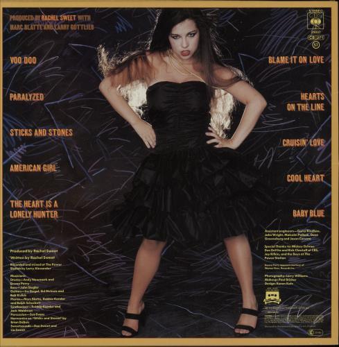 Rachel Sweet Blame It On Love vinyl LP album (LP record) UK RS1LPBL750203