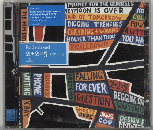 Radiohead 2+2+=5 - 2CDs + DVD 3-disc CD/DVD Set UK R-H3DCD696675