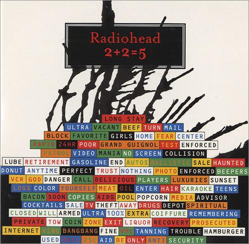"Radiohead 2+2=5 Two+Two=Five CD single (CD5 / 5"") European R-HC5TW263249"