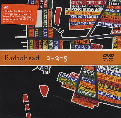 Radiohead 2+2=5 DVD Single UK R-HDS264064