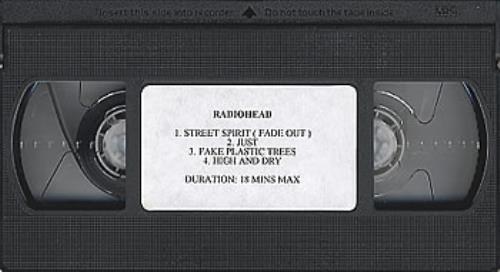 Radiohead 4 Track Compilation video (VHS or PAL or NTSC) UK R-HVITR168507