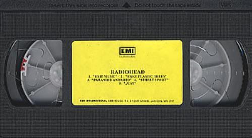 Radiohead 5 Track Compilation video (VHS or PAL or NTSC) UK R-HVITR351435