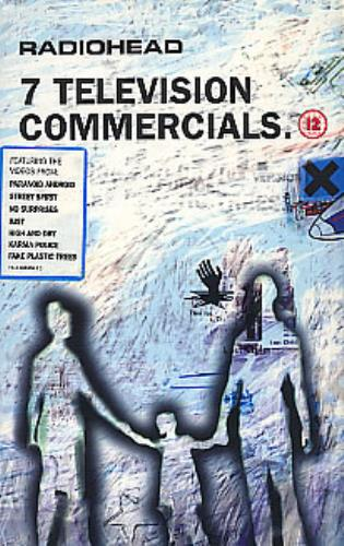 Radiohead 7 Television Commercials video (VHS or PAL or NTSC) UK R-HVITE205004