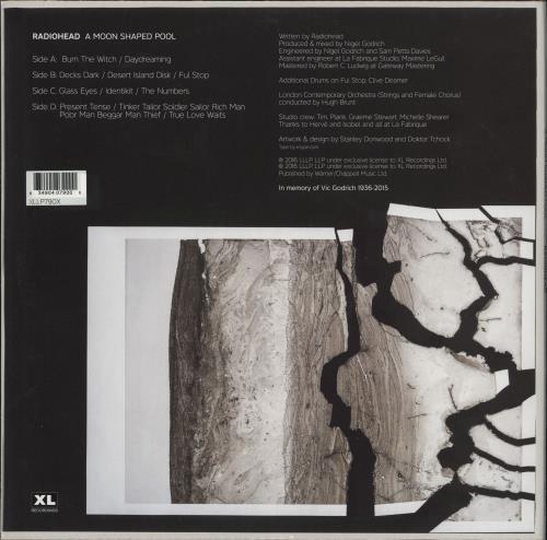 Radiohead A Moon Shaped Pool - 180gm White Vinyl - Sealed 2-LP vinyl record set (Double Album) UK R-H2LAM765410