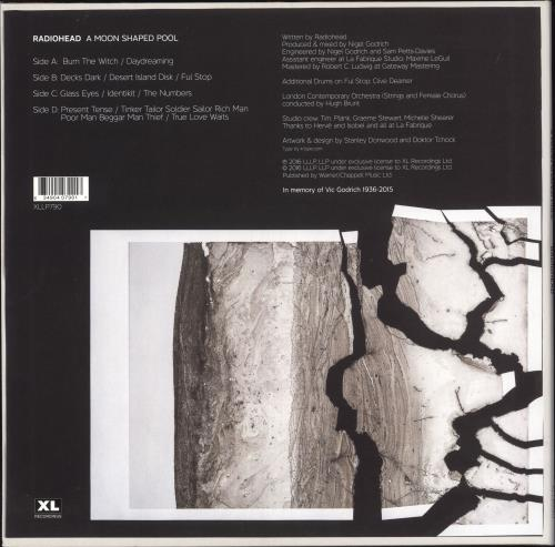 Radiohead A Moon Shaped Pool - White Vinyl 2-LP vinyl record set (Double Album) UK R-H2LAM740201