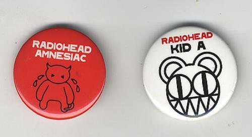 Radiohead Amnesiac/Kid A badge UK R-HBGAM247589