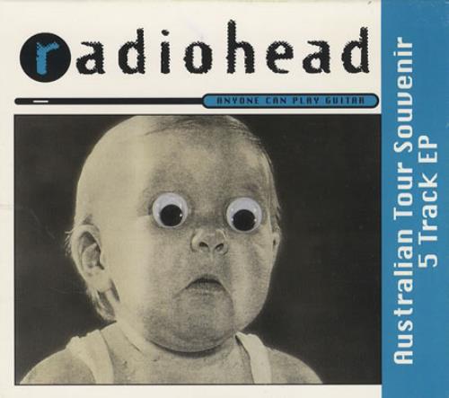 "Radiohead Anyone Can Play Guitar - Black Disc CD single (CD5 / 5"") Australian R-HC5AN31392"
